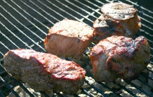 Filet Migons on the grill