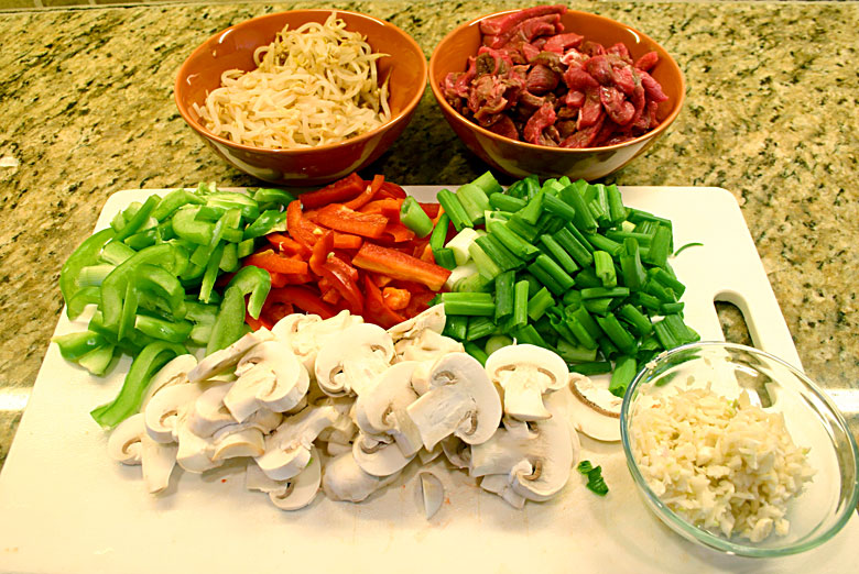 Chopped Stir Fry Ingredients