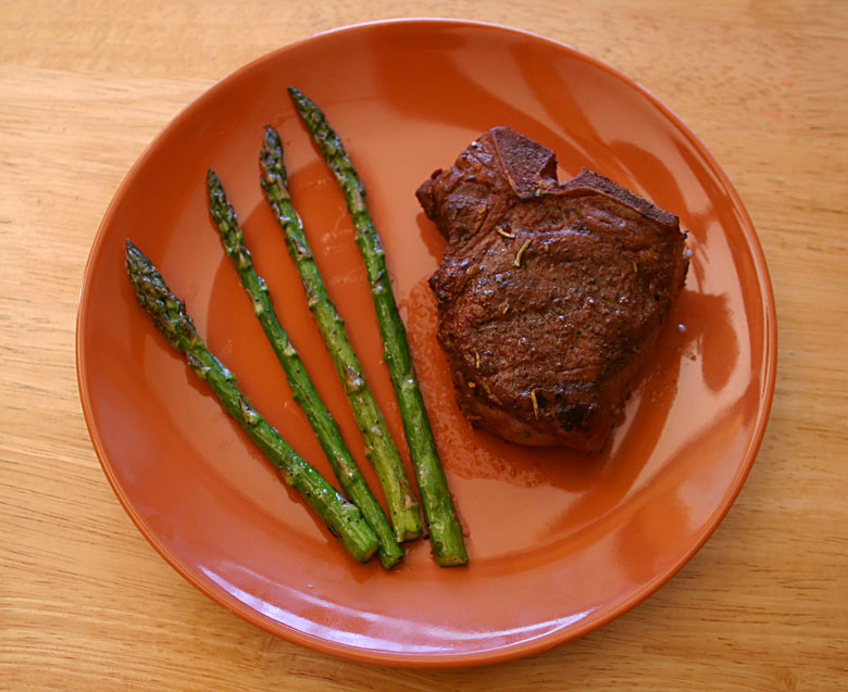 Grilled Lamb and Asparagus